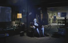American photographer Gregory Crewdson creates haunting moments frozen in time. Set in nondescript suburban America, his photos explore the disturbing dram Narrative Photography, Cinematic Photography, Fine Art Photography, Contemporary Photography, Photography Degree, Colour Photography, Experimental Photography, Conceptual Photography, Documentary Photography