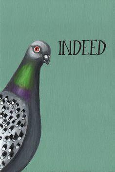 Indeed! pigeon by sparklehen