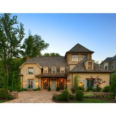 New Country French Cottage - mediterranean - exterior - dc metro - by... ❤ liked on Polyvore