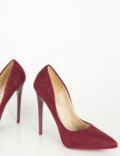 Γυναικείες μπορντό μυτερές γόβες στιλέτο σουέντ B10K  #τορούχο #torouxo #gynaikeia #γυναικεια #παπούτσια #papoytsia #online #eshop #φθινοπωρινά #γόβες Stiletto Heels, High Heels, Peeps, Peep Toe, Classy, Sexy, How To Wear, Shoes, Fashion