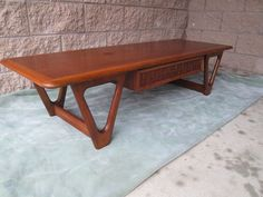 """Mid Century Danish Modern Coffee Table By Lane """"Perception Line""""  GREYHOUND SHIP 