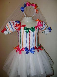 Dicas de Roupa de Festa Junina Feita com Artesanato Kids Wear, Baby Dress, Tutu, Harajuku, Lily, Ballet, Costumes, How To Wear, Dresses