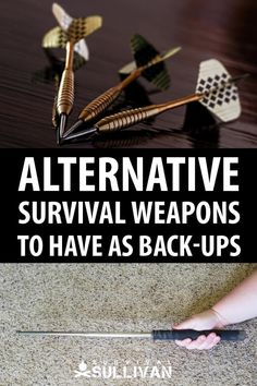 A list of all alternative survival weapons (that are not firearms) that you can use to defend yourself, your family and your home in an emergency. Survival Supplies, Survival Food, Survival Prepping, Survival Skills, Camping Survival, Outdoor Survival, Doomsday Prepping, Camping Gear, Survival Rifle