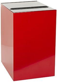 "Witt Industries 28GC02-SC Steel 28-Gallon Geo Cube Recycling Container, Slot Opening, Legend ""Newspaper"", Square, 15"" Width x 15"" Depth x 28"" Height, Scarlet Red Witt Industries http://www.amazon.com/dp/B005QNHBFI/ref=cm_sw_r_pi_dp_SN2qwb1KKD0W0"
