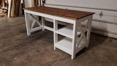 Farmhouse Desk Plans - Handmade Haven