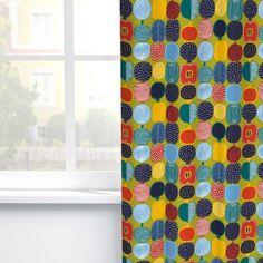 Marimekko - Kompotti cotton fabric - design Aino Maija Metsola Marimekko Fabric, Scandinavia Design, Fabric Design, Cotton Fabric, Quilts, Blanket, Furniture, Home, Cotton Textile