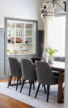 Dining Room Lighting, Dining Room Chairs, Dining Area, Dining Table, Local Furniture Stores, Beautiful Dining Rooms, Modern Victorian, Large Table, Room Decor