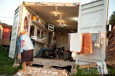 In many shanty towns around South Africa, shipping containers are used by local shop owners. Photography by MajorMultimedia.com