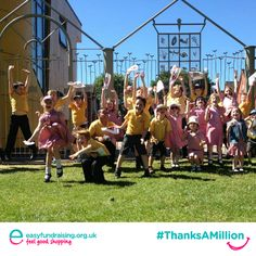 """""""#ThanksAMillion Raddlebarn Primary School love easyfundraising.org.uk"""" #Giving #Fundraising #Charity"""