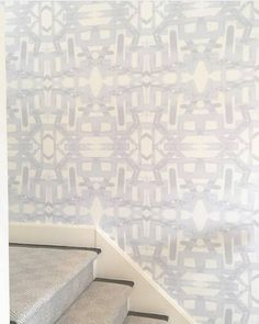 82113 Grey Mist Alta Wallcovering Chic Wallpaper, Fabric Wallpaper, Wall Wallpaper, Wood Interiors, Formal Living Rooms, Cottage Homes, Stairways, Wall Tiles, Mists