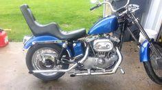 1972 Harley Davidson sportster ironhead 1000cc. Ammolite
