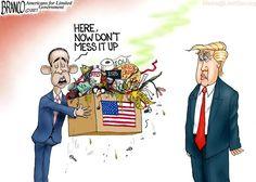 Presumptuous Politics: Obama Golfing Off Cartoons