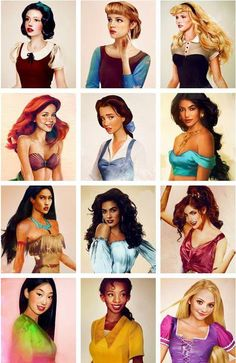 found this to be pretty cool...an artist's idea of how the disney princesses would look if they were real. there was an article about this on yahoo...not sure who the very last princess is...