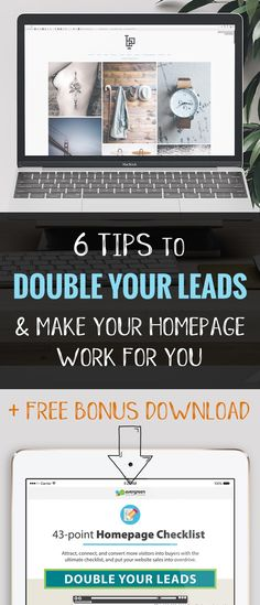 You have mere seconds to communicate your worth to a potential lead in order to keep them on your website. Don't waste this opportunity with clutter, irrelevant information, or design fails. This helpful post starts you off with 6 tips to double your leads and includes a free bonus guide with 37 more tips!  via @delapuravida