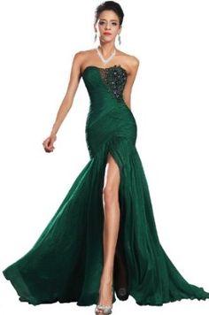 Amazon.com: eDressit New Green High Split Strapless Evening Dress (00134604): Clothing