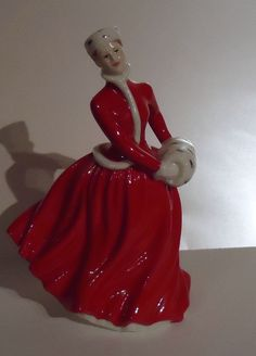 Lady in Red Figurine
