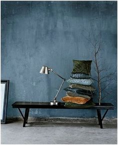 """Lime paint inspiration Reminds me of """"Country Blue"""" Fresco lime paint by Pure & Original - Half bath? Interior Design Trends, Interior Inspiration, Interior Decorating, Autumn Decorating, Decorating Kitchen, Colour Inspiration, Autumn Inspiration, Decorating Tips, Interior Styling"""