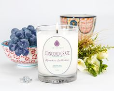 ***Signature Concord Grape Candle***The luscious, soft aroma of sweet grapes meld seamlessly with the fresh scent of ripe vine picked grapes to create a deeply aromatic fruity scent. Aroma Beads, Jewelry Candles, Signature Collection, Classic Collection, Luxury Candles, Scented Candles, Aroma Candles, Potpourri, The Fresh