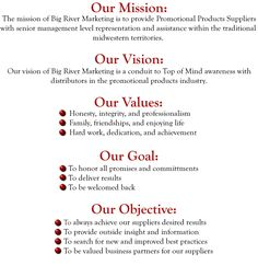 Mission Vision Values Statements You Inc Pinterest