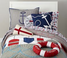 #nautical #pillows #bedroom