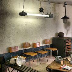 Industriële meubels, beeld van de showroom