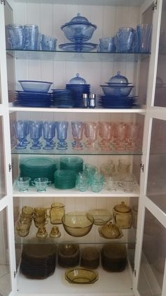My Madrid depression glass collection...I may have a problem.