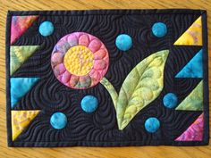Stunning!  mug rug   pieced & applique
