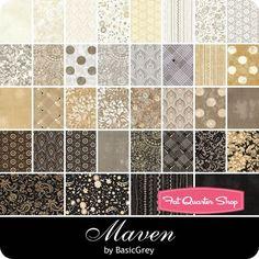 Maven Charm Pack  BasicGrey for Moda Fabrics   | Fat Quarter Shop