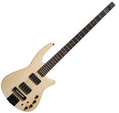 NS Design Radius CR4-BG-NAS Headless Bass Guitar Ned Steinberger Ebony EMG Demo #NSDesign