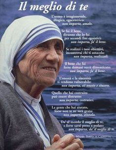 In Italian too. Wise Quotes, Faith Quotes, Inspirational Quotes, Wise Sayings, Pope John, Pope Francis, Maria Teresa, Feelings Words, Magic Words