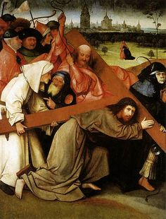 Artist             [show]Hieronymus Bosch (circa 1450–1516)                                                                                                                     Title     Christ Carrying the Cross         Date     second half of 15th century