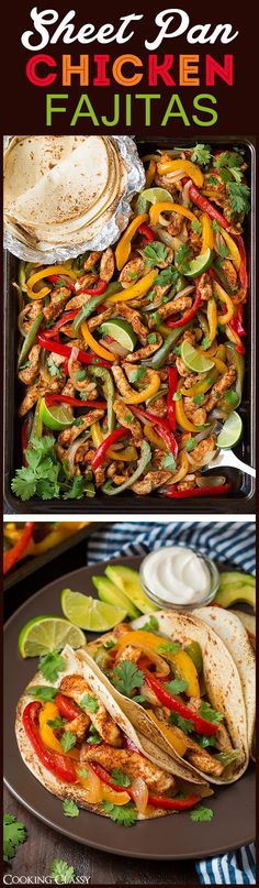 Sheet Pan Fajitas - easy clean up, DELICIOUS flavor! Everyone loved these! Definitely a repeat recipe! Sheet Pan Fajitas - easy clean up, DELICIOUS flavor! Everyone loved these! Definitely a repeat recipe! Mexican Dishes, Mexican Food Recipes, Dinner Recipes, Indian Recipes, Dinner Ideas, Easy Chicken Fajitas, Shrimp Fajitas, Chicken Tacos, Grilled Chicken