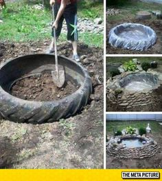 Creative Idea, How To Easily Make A Pond