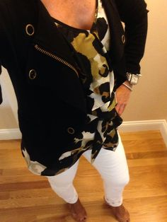 OOTD...#CAbistyle #tbt Fall'13 Moto Jacket, Fall '12 Ingenue Cami and Spring '11 Bree Jean. www.nancydowning-schloss.cabionline.com  I thought I would mix it up a little bit today!