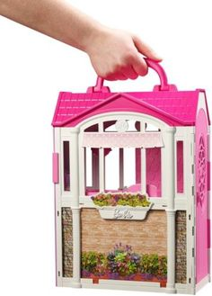 Barbie-Doll-House-Play-Set-Girl-Girls-Dream-Home-Vacation-Mansion-Portable-Carry