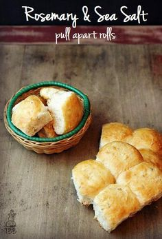 Rosemary Sea Salt Pull Apart Rolls