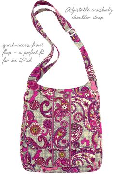 Meet the Mailbag - a new style from Vera Bradley.  This crossbody will hold everything you need for school, work and play.  Great for mom's -- holds what you need and keeps your hands free for keeping track of kids.  Shown in Paisley Meets Plaid.