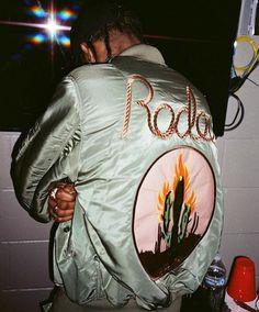Travis Scott's Custom Bomber Jacket