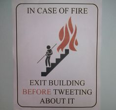 Where would we be without health and safety advice?!