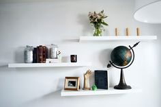 Floating shelves are very versatile for your decorating and organizing needs. And you can find them reaaaally inexpensive at places like Ikea. In our office re-decoration project I used 3, glossy white LACK shelves from Ikea in our studio/conference room, hung in a staggered layer. We usually use them to display some of my vintage [...]