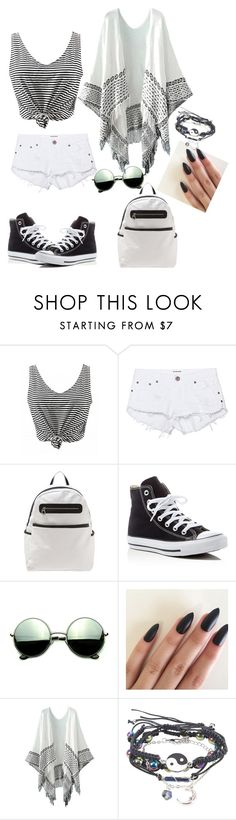 """""""Untitled #2"""" by em03071999 ❤ liked on Polyvore featuring One Teaspoon, Converse and Revo"""