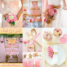 Pink and Gold Wedding Colors - Pink and Gold has an opulent, glamorous appearance. It works for spring, summer and winter wedding Gold Wedding Favors, Pink And Gold Wedding, Wedding Themes, Wedding Decorations, Pastel Wedding Colors, Popular Wedding Colors, Wedding Color Combinations, Wedding Color Schemes, Elegant Wedding