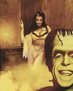 Lily and Herman Frankenstein Horror Arte Art Fantasy Munsters Tv Show, The Munsters, Halloween Art, Happy Halloween, Halloween Stuff, Desenhos Hanna Barbera, Yvonne De Carlo, Cassandra Peterson, Horror Artwork
