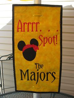 "Umbrella Spotter ""Arrrr Spot""  For Your Disney Cruise Or Anywhere.  Don't Lose Your Spot Again. $18.99, via Etsy."