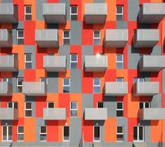 High Density Residential Building Solano & Catalan Bucharest, Romania, colorful architecture, modular architecture