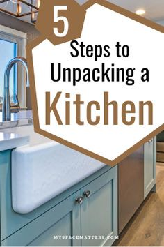 Moving is stressful, unpacking is tough....especially unpacking the kitchen. Follow these 5 steps and your new house will feel like a home in no time. #kitchen #organizing #unpacking #professionalorganizer | Kitchen Organization Kitchen Organization, Organizing, Extra Storage, New Kitchen, New Homes, House, Home Decor, Decoration Home, Home