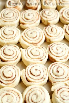 Lunch Lady Cafeteria Cinnamon Rolls - can be put in the fridge to rise overnight and bake in the morning!