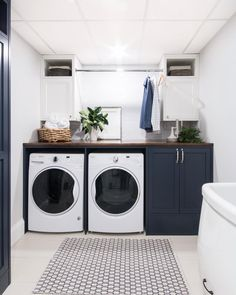 37 Beautiful Small Laundry Room Makeover Ideas - Its one of the most used rooms in the house but it never gets a makeover. What room is it? The laundry room. Almost every home has a laundry room and . Laundry Room Design, Room Storage Diy, White Laundry Rooms, Laundry In Bathroom, Room Design
