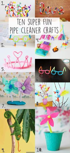 THESE PIPE CLEANER CRAFTS ARE SUPER FUN TO MAKE AND PLAY WITH AFTERWARDS!