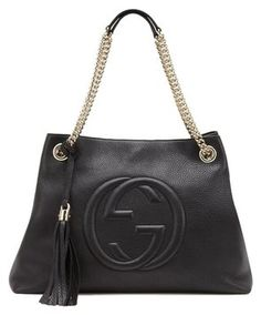 3d4563df92f0f0 Gucci Shoulder Soho W W.gold Hardware Black Leather Hobo Bag 21% off retail